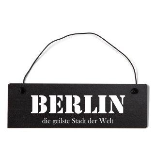 Berlin Dekoschild Türschild schwarz mit Draht