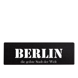 Berlin Dekoschild Türschild schwarz zum kleben