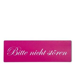 bitte nicht stören Dekoschild Türschild pink zum kleben