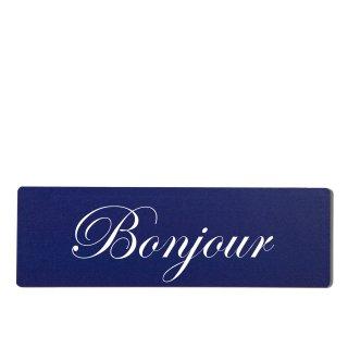 Bonjour Dekoschild Türschild hellblau zum kleben
