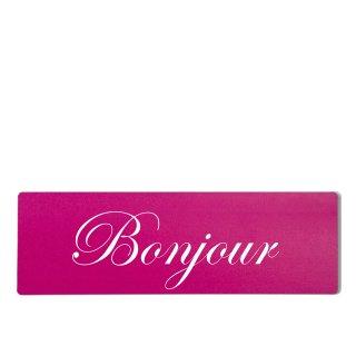 Bonjour Dekoschild Türschild pink zum kleben