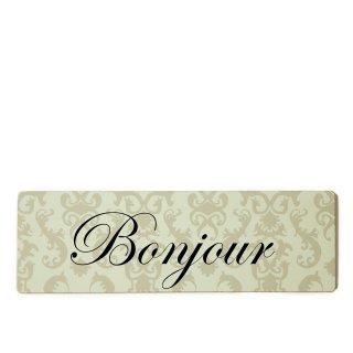Bonjour Dekoschild Türschild beige zum kleben