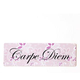 Carpe Diem Dekoschild Türschild rosa zum kleben