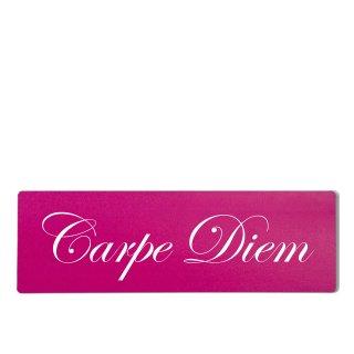Carpe Diem Dekoschild Türschild pink zum kleben