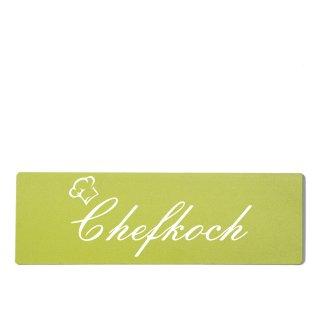 Chefkoch Dekoschild Türschild grün zum kleben