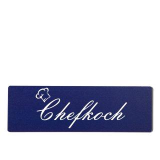 Chefkoch Dekoschild Türschild hellblau zum kleben