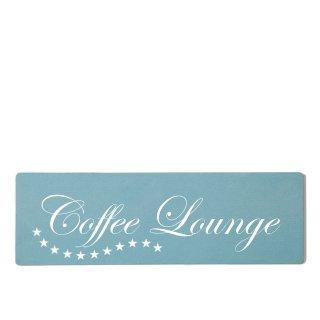 Coffee Lounge Dekoschild Türschild gelb zum kleben
