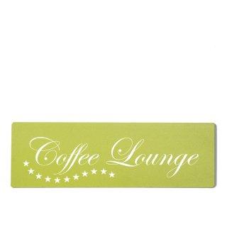 Coffee Lounge Dekoschild Türschild grün zum kleben