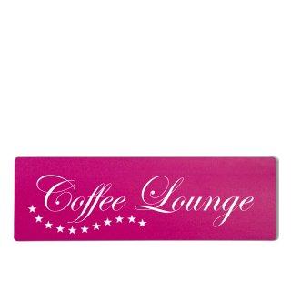 Coffee Lounge Dekoschild Türschild pink zum kleben