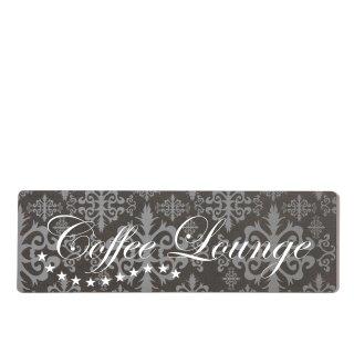 Coffee Lounge Dekoschild Türschild lila zum kleben
