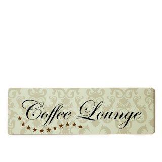 Coffee Lounge Dekoschild Türschild beige zum kleben