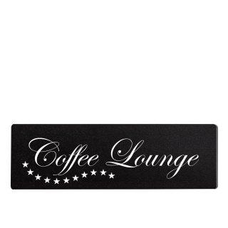Coffee Lounge Dekoschild Türschild schwarz zum kleben