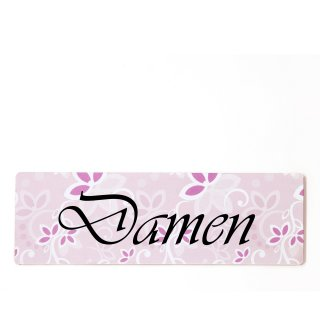 Damen Toilette Dekoschild Türschild rosa zum kleben