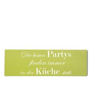Die besten Partys Küche Dekoschild Türschild grün zum kleben