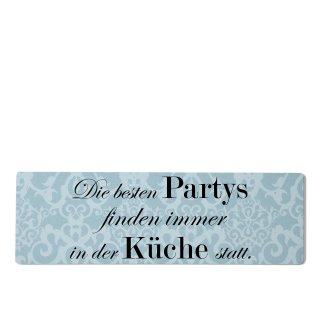 Die besten Partys Küche Dekoschild Türschild blau zum kleben