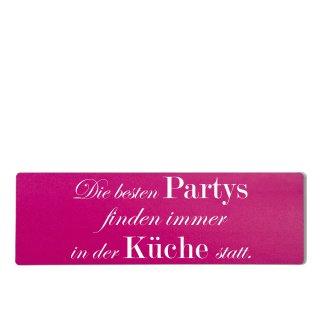 Die besten Partys Küche Dekoschild Türschild pink zum kleben