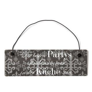 Die besten Partys Küche Dekoschild Türschild lila mit Draht