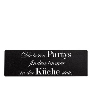 Die besten Partys Küche Dekoschild Türschild schwarz zum kleben