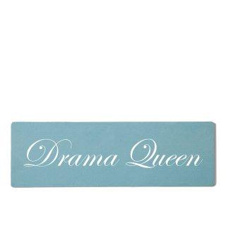 Drama Queen Dekoschild Türschild gelb zum kleben