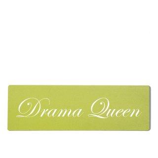 Drama Queen Dekoschild Türschild grün zum kleben