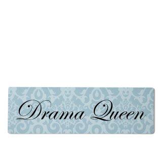 Drama Queen Dekoschild Türschild blau zum kleben