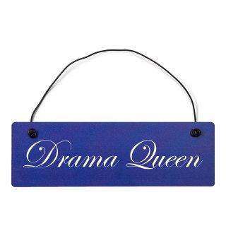 Drama Queen Dekoschild Türschild hellblau mit Draht