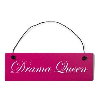 Drama Queen Dekoschild Türschild pink mit Draht