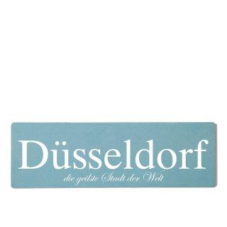 Düsseldorf Dekoschild Türschild gelb zum kleben