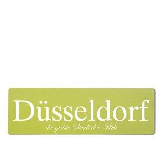 Düsseldorf Dekoschild Türschild grün zum kleben