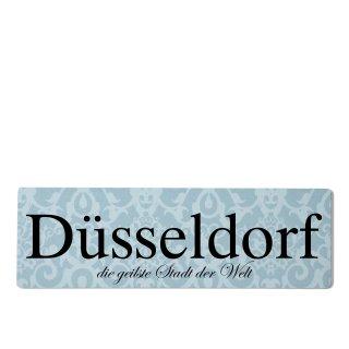 Düsseldorf Dekoschild Türschild blau zum kleben