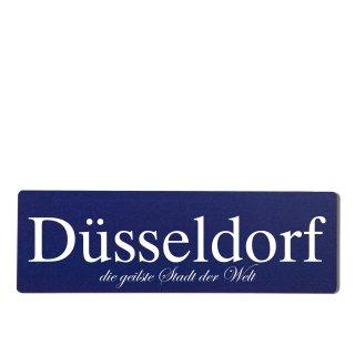Düsseldorf Dekoschild Türschild hellblau zum kleben