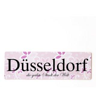 Düsseldorf Dekoschild Türschild rosa zum kleben