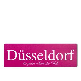 Düsseldorf Dekoschild Türschild pink zum kleben