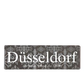 Düsseldorf Dekoschild Türschild lila zum kleben