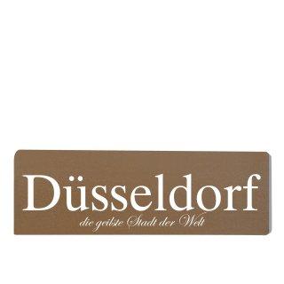 Düsseldorf Dekoschild Türschild braun zum kleben