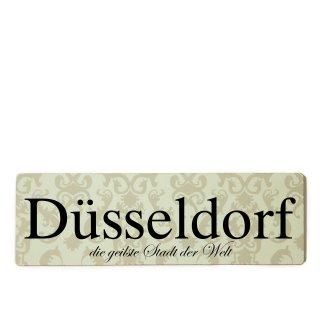 Düsseldorf Dekoschild Türschild beige zum kleben