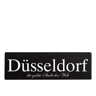 Düsseldorf Dekoschild Türschild schwarz zum kleben