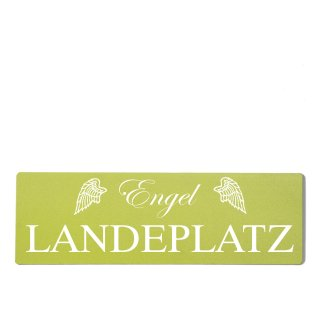 Engel Landeplatz Dekoschild Türschild grün zum kleben