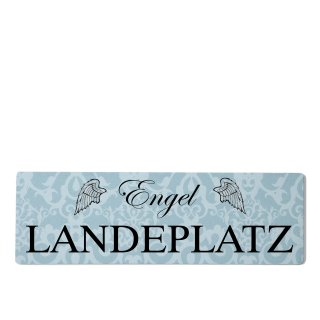Engel Landeplatz Dekoschild Türschild blau zum kleben