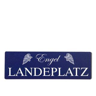 Engel Landeplatz Dekoschild Türschild hellblau zum kleben