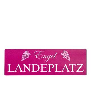 Engel Landeplatz Dekoschild Türschild pink zum kleben