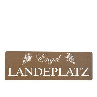Engel Landeplatz Dekoschild Türschild braun zum kleben
