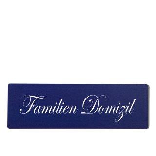 Familien Domizil Dekoschild Türschild hellblau zum kleben