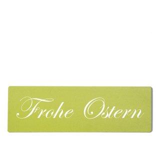 Frohe Ostern Dekoschild Türschild grün zum kleben