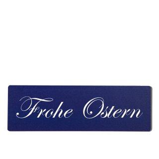 Frohe Ostern Dekoschild Türschild hellblau zum kleben
