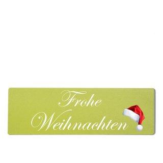 Frohe Weihnachten Dekoschild Türschild grün zum kleben