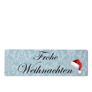 Frohe Weihnachten Dekoschild Türschild blau zum kleben