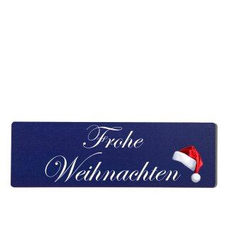 Frohe Weihnachten Dekoschild Türschild hellblau zum kleben