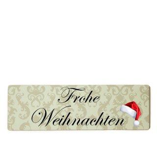Frohe Weihnachten Dekoschild Türschild beige zum kleben