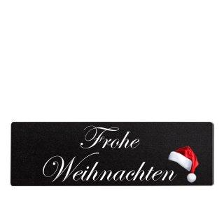 Frohe Weihnachten Dekoschild Türschild schwarz zum kleben